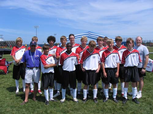 The U16 boys team from East Central Iowa.