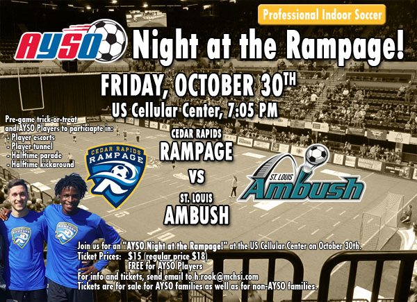 AYSO Night at the Rampage