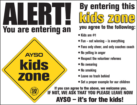 AYSO East Central Iowa (Region 1112) is a Kids Zone!