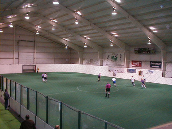 Indoor soccer field at SportZone
