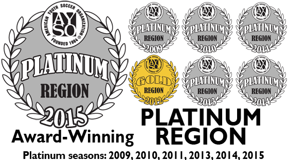 AYSO East Central Iowa (Region 1112) is a Platinum Award winning region!
